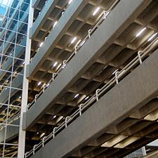 Estrutura do prédio do bloco Alfa